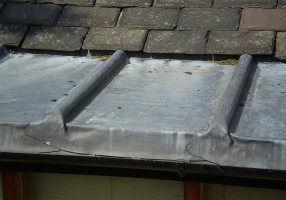 Lead roof to porch